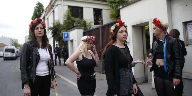 La justice a décidé d'expulser les Femen de leur quartier général, établi illégalement dans les locaux d'une usine de traitement des eaux à Clichy-la-Garenne