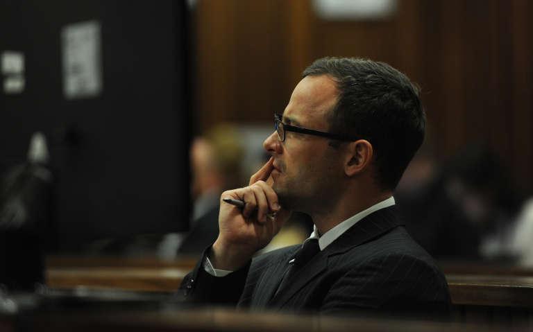 L'ancien athlète paralympique Oscar Pistorius lors de son procès, en juillet 2014.