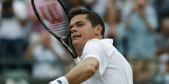 Le Canadien Milos Raonic a rejoint Roger Federer en demi-finales, mercredi 2 juillet.