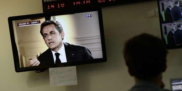 Nicolas Sarkozy lors de son interview, le 2 juillet 2014.