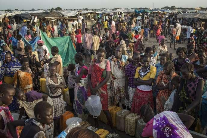 Le 2 juillet 2014, sur la base de réfugiés de Bentiu gérée par l'ONU.