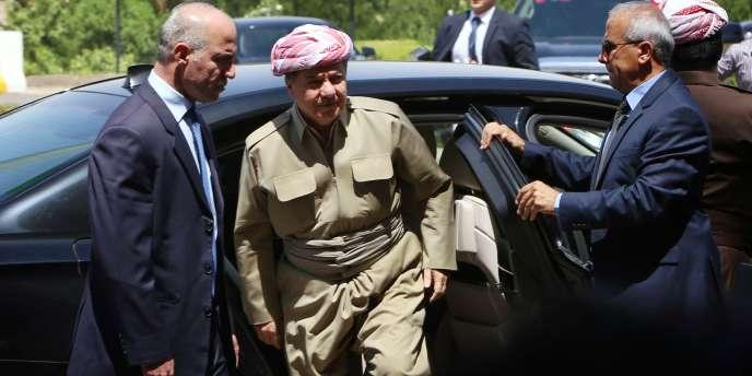 Massoud Barzani au Parlement de la région autonome du Kurdistan, à Erbil le3juillet.