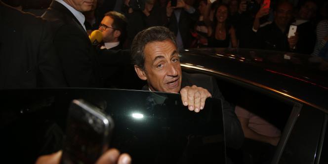 Nicolas Sarkozy au sortir de son interview.