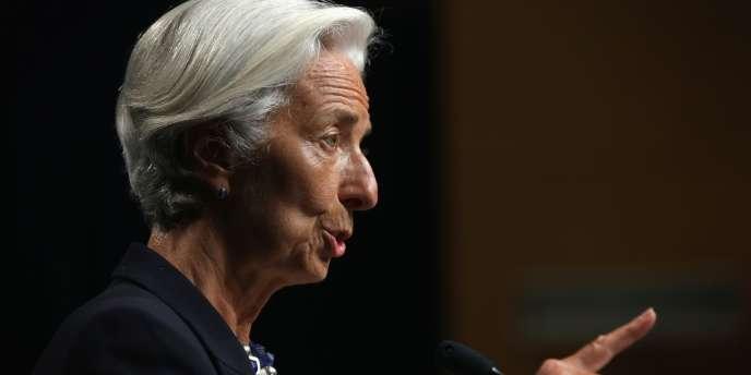 Christine Lagarde, directrice générale du FMI, le 2 juillet 2014, à Washington.