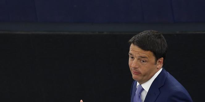 Matteo Renzi à Strasbourg, le 2 juillet.