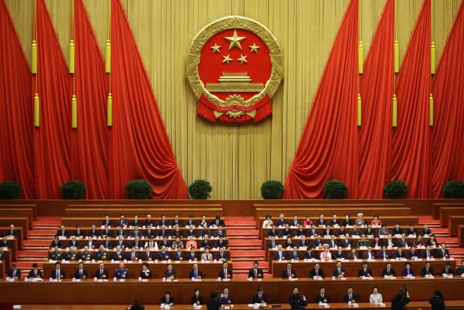 Session annuelle de l'Assemblée nationale populaire, en mars 2013.
