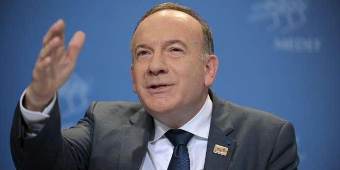 Pierre Gattaz, président du Medef, à Paris, le17juin.