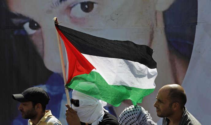 Le 4 juillet, dans le quartier de Chouafat, à Jérusalem-Est, lors des funérailles de Mohammed Abou Khdeir, l'adolescent palestinien assassiné deux jours plus tôt.