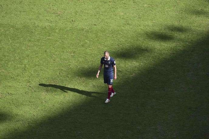 Karim Benzema à la fin du match France-Allemagne.