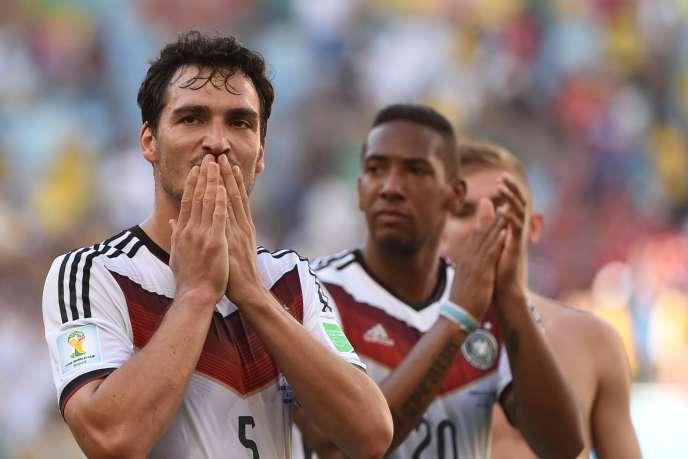 Le défenseur Mats Hummels, auteur du but allemand contre la France, vendredi 4 juillet à Rio.