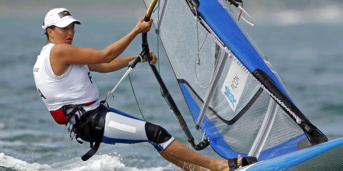 Charline Picon, ici lors des JO de Londres, le2août2012 à Weymouth.