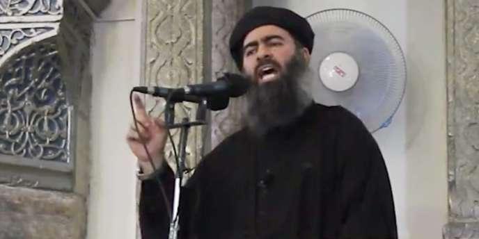Abou Bakr Al-Baghdadi en Irak en juillet.