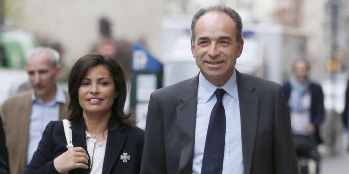 Jean-François Copé et son épouse Nadia, le 30 mars 2014.