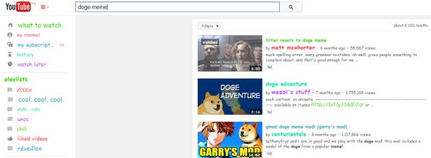 Un exemple d'easter egg sur YouTube