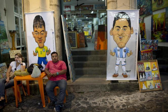 Dans le quartier de Pelourinho, à Salvador, le 30 juin.