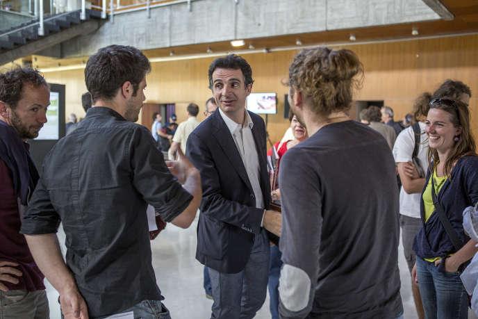 Le maire de Grenoble Eric Piolle lors d'un conseil municipal, le 30 juin.