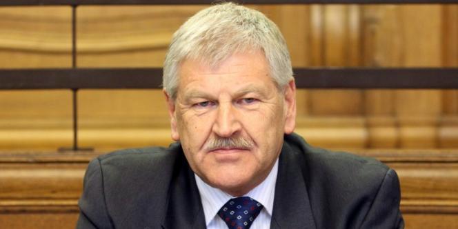 Udo Voigt, élu néonazi allemand, en févrirer 2011 à Berlin.