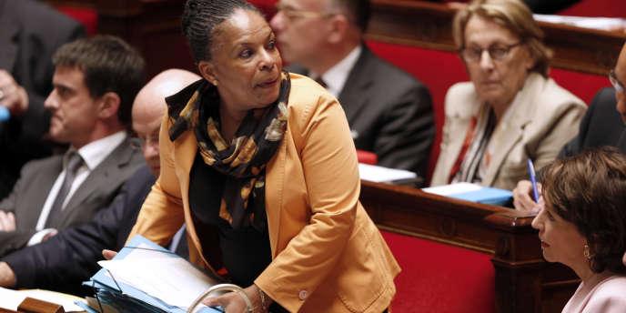 La garde des sceaux, Christiane Taubira, à l'Assemblée nationale, le 4 juin.