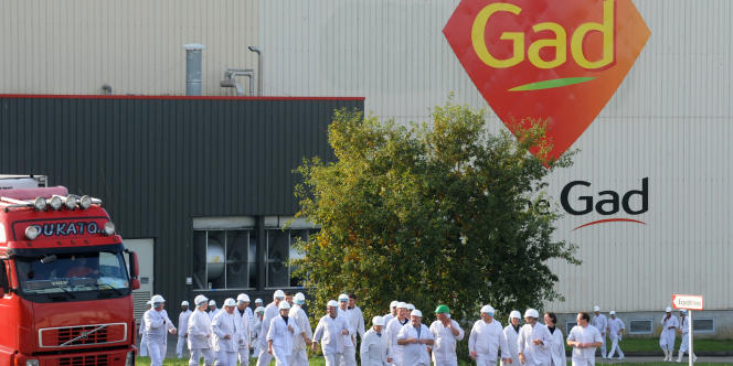 L'abattoir de Josselin, dans le Morbihan, emploie près d'un millier de salariés.