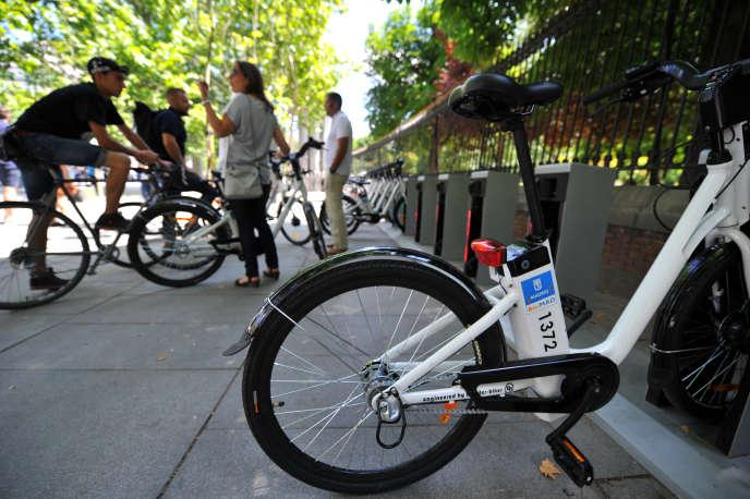 BiciMad, le Velib de Madrid, inauguré fin juin.