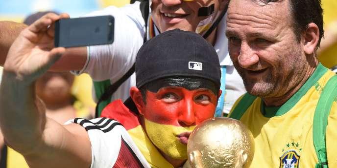 Le selfie d'un supporteur allemand dans les tribunes du Maracana.