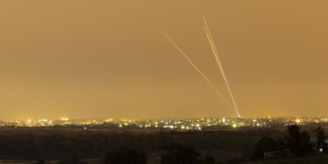 Des tirs de roquettes depuis la bande de Gaza, le 12 juillet.