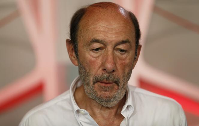 Alfredo Perez Rubalcaba, le 13 juillet à Madrid.