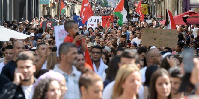 Manifestation en soutien au peuple palestinien, à Bordeaux, le 12 juillet.