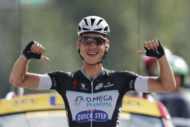 Tony Martin, vainqueur de la 9e étape à Mulhouse, dimanche 13 juillet.