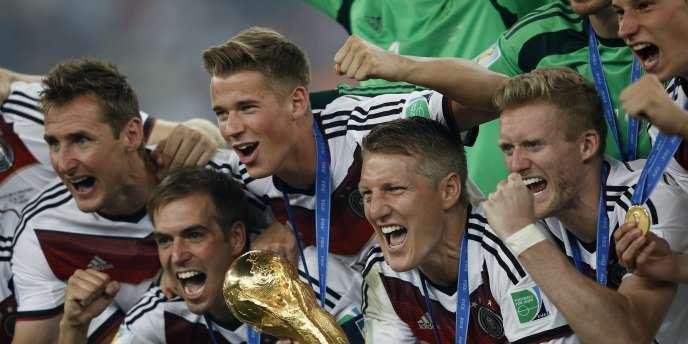 L'équipe d'Allemagne fête sa coupe du monde, le 12 juillet.