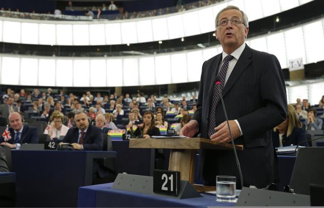 Jean-Claude Juncker, au Parlement européen avant le vote des eurodéputés, le 15 juillet.