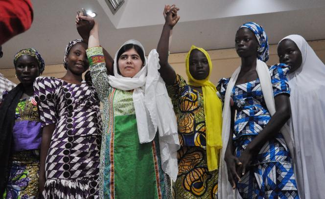 Malala Yousafzai à Ajuba, au Nigeria, le 14juillet.