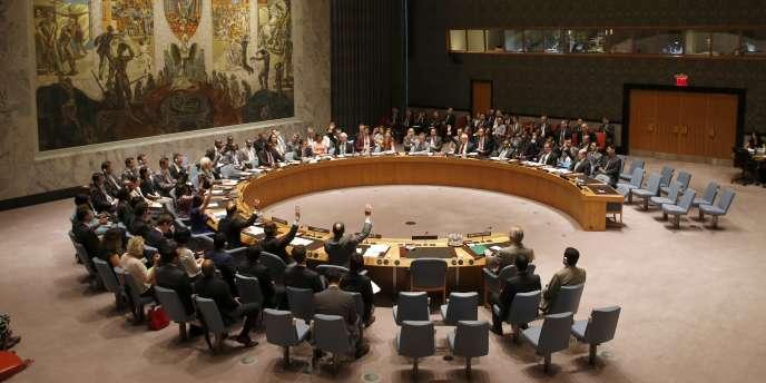 Le Conseil de sécurité de l'ONU, à New York, le 14 juillet.