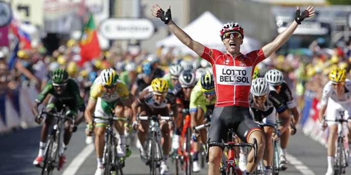 Tony Gallopin, vainqueur de la 11e étape, entre Besançon et Oyonnax.