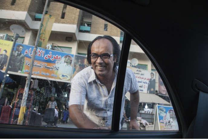 L'écrivain Ahmed Saadaoui, à Bagdad, le 6 juillet.