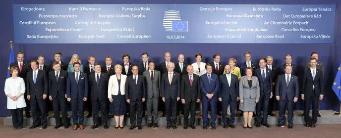Les dirigeants européens à Bruxelles, le 16 juillet.