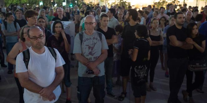 Des Israéliens lors d'un événement organisé par