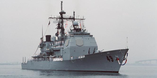 Le croiseur américain USS «Vincennes», qui a abattu l'Airbus A300 de la compagnie Iran Air en 1988.