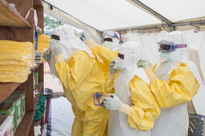 Un centre de traitement du virus Ebola de Médecins sans frontières, le 10 juillet à Kailahun, dans l'est de la Sierra Leone.