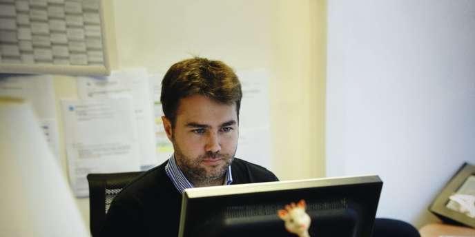 Le présidentfondateur de  BlaBlaCar, Frédéric Mazzella, 38 ans. Photo: Bruno Levy/divergence-images pour Les Echos