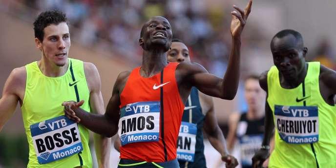 Pierre Ambroise Bosse, 2e derrière Nijel Amos, vendredi 18 juillet, à Monaco.