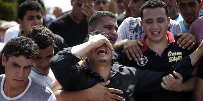 A Gaza, où 47 Palestiniens sont morts, le 19 juillet.