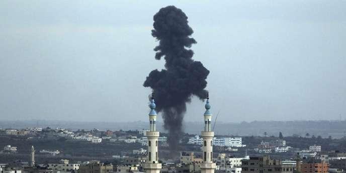 Après un tirs de missiles sur Gaza, le 18 juillet.