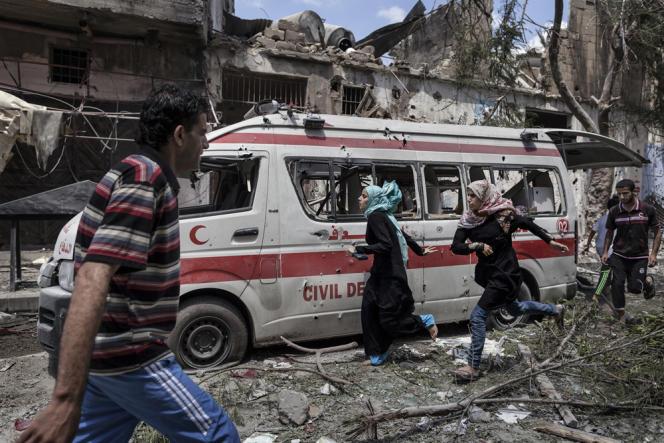 Dans Chadjaiya, quartier de la ville de Gaza frontalier d'Israël, le 20juillet.