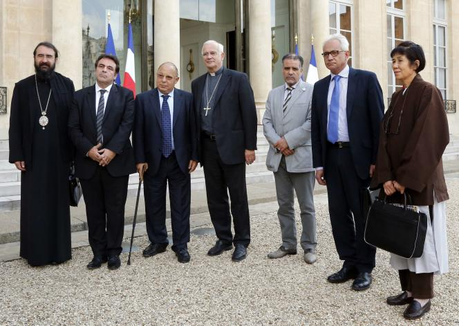 François Hollande avait reçu à l'Elysée les représentants des religions catholique, musulmane, protestante, juive, bouddhiste et orthodoxe.
