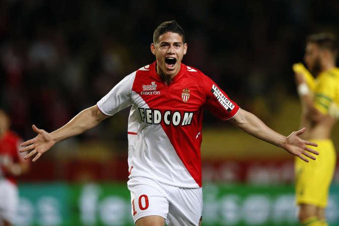 James Rodriguez, ici sous les couleurs de Monaco, le 6 avril.