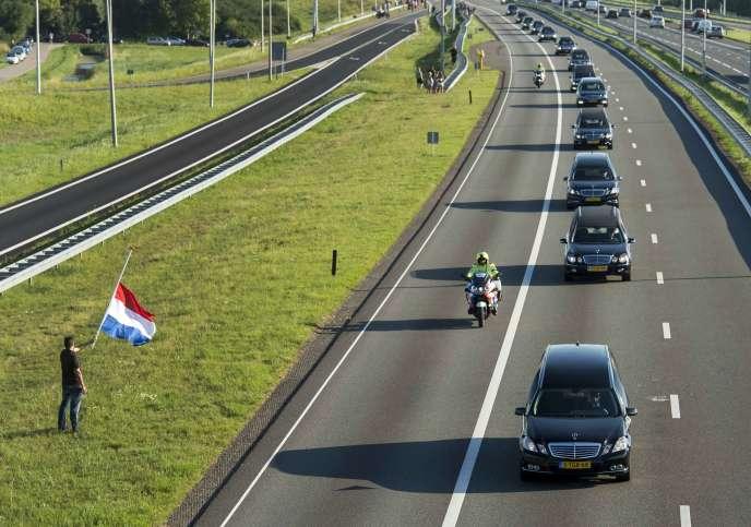 Les corps des victimes néerlandaises du MH17 aux Pays-bas, le 23 juillet.