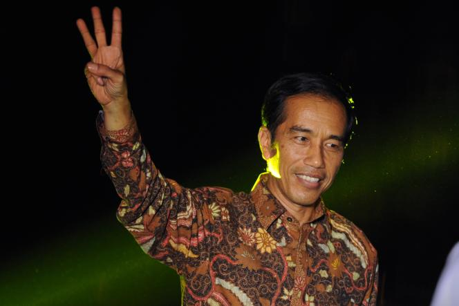 Joko Widodo, le 22 juillet, à Sunda Kelapa.