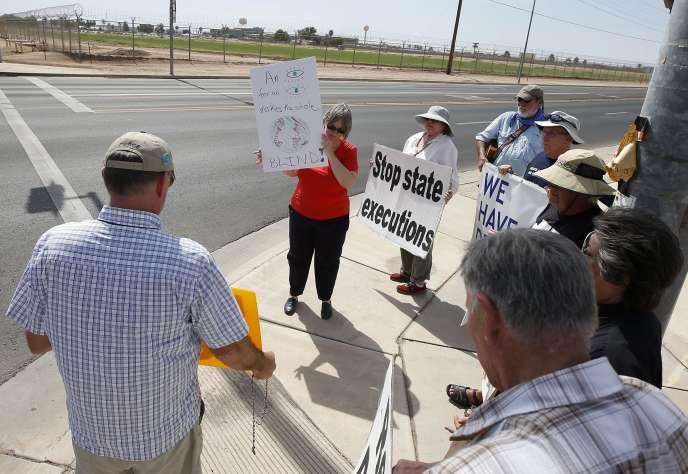 Des opposants à la peine de mort, le 23 juillet en Arizona.