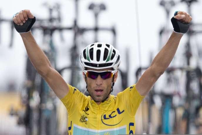 Vincenzo Nibali, vainqueur de la 18e étape du Tour de France, le 24 juillet.